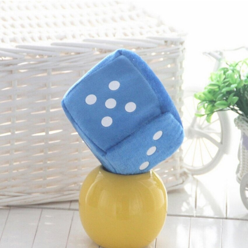 Soft Dice Plush Toy Kids Activity Games Props Creative Party Toy Blue 10cm - intl