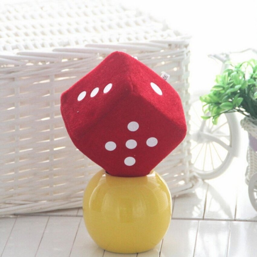 Soft Dice Plush Toy Kids Activity Games Props Creative Party Toy Red 4cm - intl