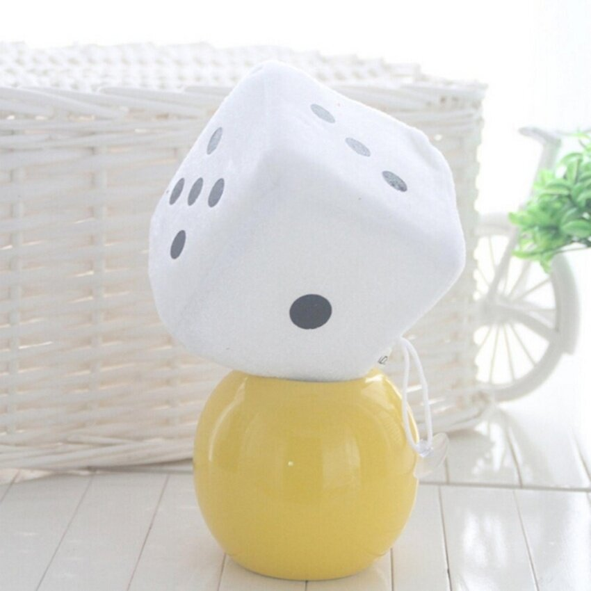 Soft Dice Plush Toy Kids Activity Games Props Creative Party Toy White 10cm - intl
