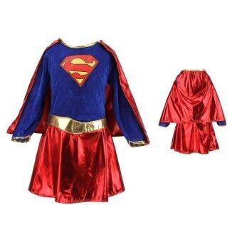 เด็กสาว ๆ แต่งชุดแฟนซีฮีโร่ Supergirl ชุดปาร์ตี้การ์ตูน