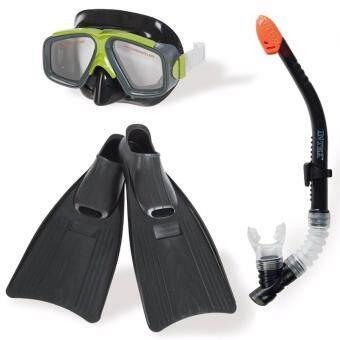 หน้ากากดำน้ำ - แว่นตาดำน้ำ - แว่นดำน้ำพร้อมตีนกบ และ สน็อกเกิ้ล - SURF RIDER SPORTS SET (TRU-893717)