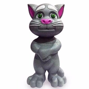 Thaismartshopping แมวพูดได้ ร้องเพลง เล่านิทาน (สีเทา) (image 0)