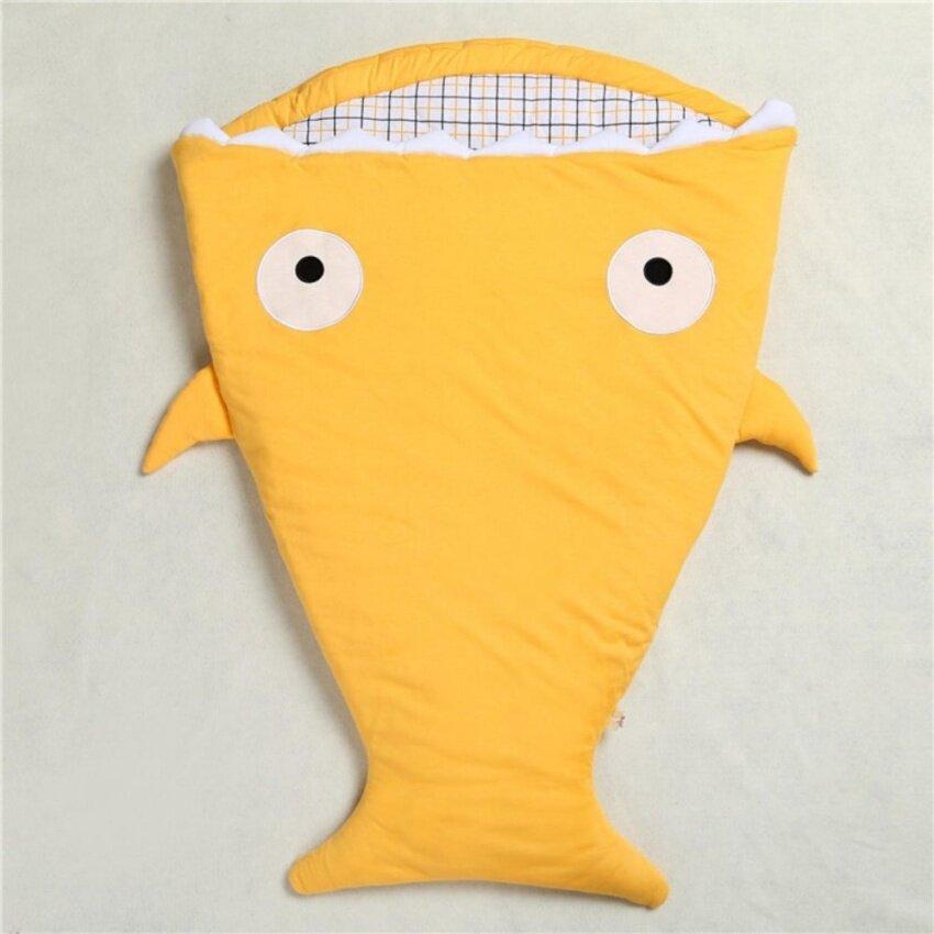 The Fashion Baby Shark Sleeping Bag Child Sleeping Bag Cotton Multifunctional Baby Anti - kick Hold(Red) - intl