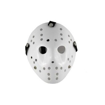 Thickening All-White Yellow Jason Mask Halloween Custumeball Party Horror Funny Cosplay Face Mask - intl