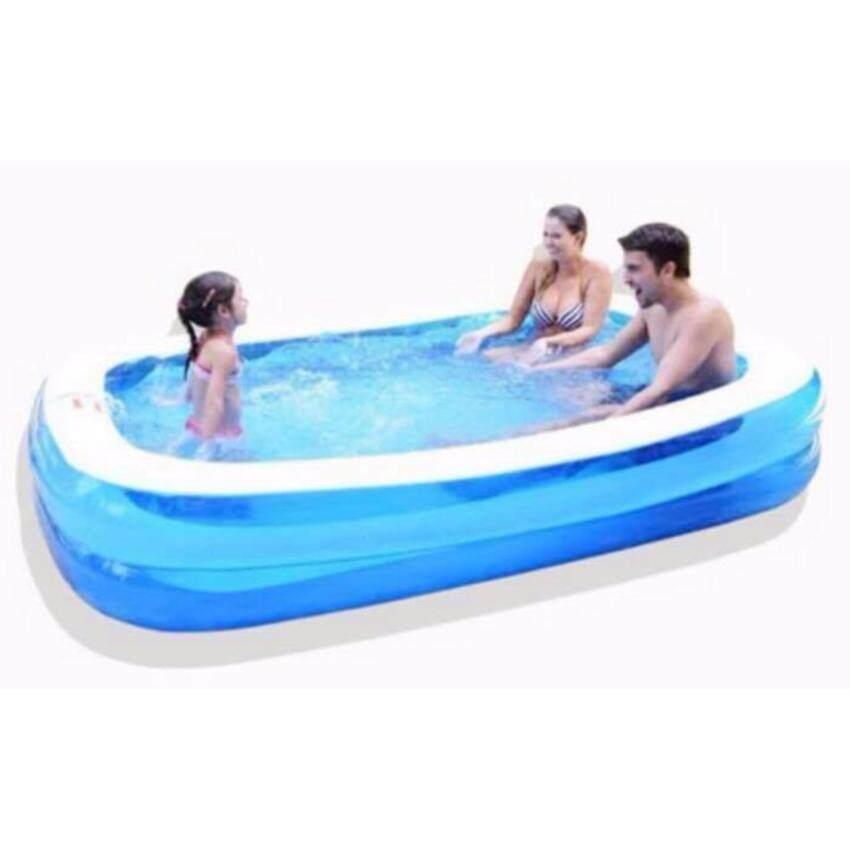 TM TOYS สระน้ำเป่าลมขนาด200*150*50 cm (สีฟ้า)