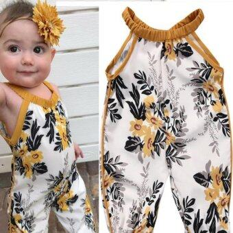Toddler Kids Baby Girls Romper Belt Jumpsuit Bodysuit Clothes -intl