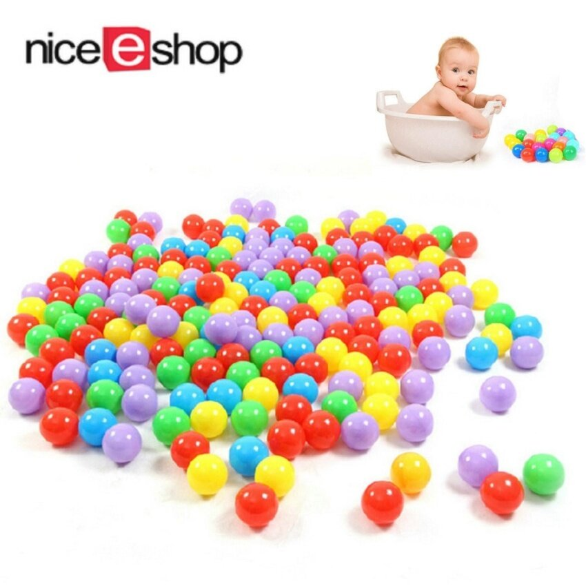 Toys Games Ball Pits Accessories Ball Pit Balls For Baby Kids 100Pcs Non-Toxic Crush Proof Ocean Plastic Ball - intl