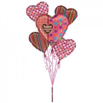 Valentines Day Polka Dots Hearts & Stripes Bouquet (1 per package) - intl