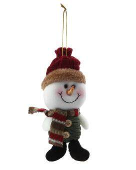 voogol Christmas Tree Hanging Ornaments Santa Snowman HangingDecorations Christmas Gift Cute Doll Toy Crafts for Holiday PartyDecor  02#