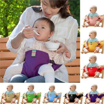 Harga Washable Portable Baby Feeding Belt Toddler Safety Seat -Khaki -intl