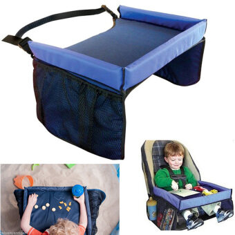 Harga Waterproof Baby Kids Car Safety Seat Snack Play Travel Tray DrawingBoard Table - intl