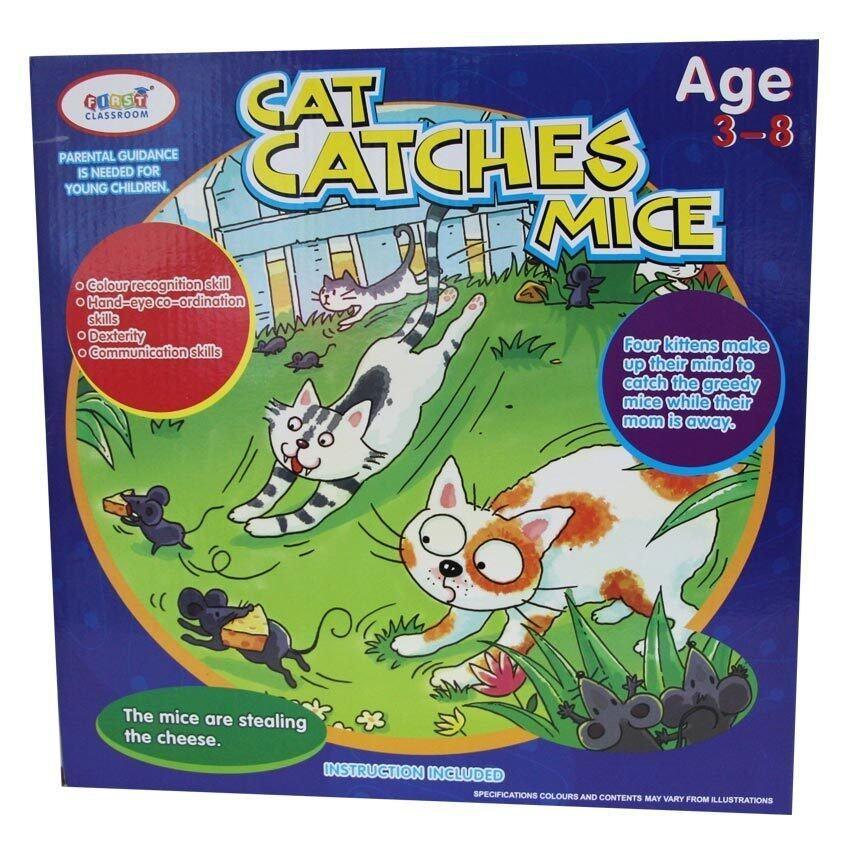 Wisher Toys เกมกล่องป้องกันชีสจากหนู รุ่น HM1653 - Cat Catches Mice