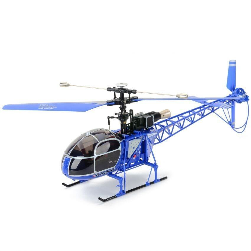 WL toy V915 เฮลิคอปเตอร์บังคับสเกล LAMA 4 Channal (BLUE)