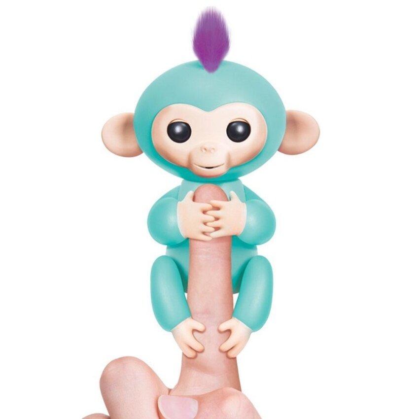 Womdee Fingerlings Interactive Baby Monkeys, Little Baby Fingerlings Pet Electronic Monkey Children Kids Toy, White - intl