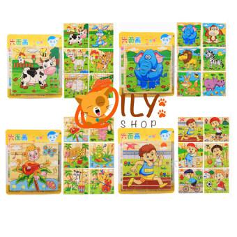 Wood Toy ของเล่นไม้ เเพ็คคู่ กระดานเสริมทักษะ 2 in 1 Children Learn Flap + บล็อกไม้ลูกเต๋า ต่อได้ 6 ด้าน (image 4)