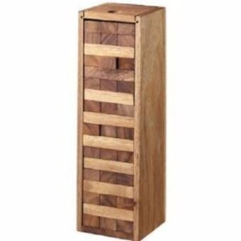 Wood Toy ของเล่นไม้ Number Block (Size s) Wooden JenGa Game 54 Pcs