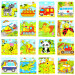 Wooden Cartoon Jigsaw Puzzle Kids Child Developmental Toy Gift(Random) (Multicolor) - intl
