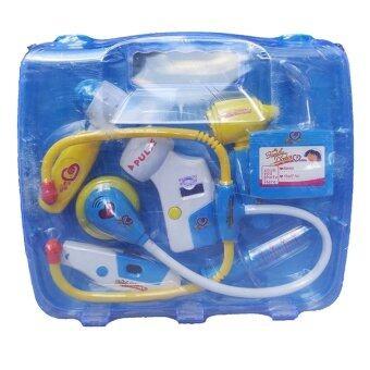 Worktoys ชุดกระเป๋า คุณหมอ มีเสียง มีไฟ 8 ชิ้น (สีฟ้า)
