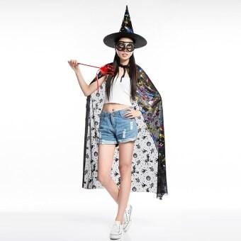 Wuwazhengfu ฮาโลวีนแม่มดเสื้อคลุมเสื้อคลุม