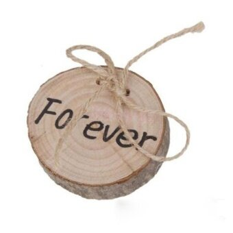 yeopor Wooden Printed Chic Rustic Wedding Ring Bearer Pillow CustomRing Pillow (Forever Printed) - intl