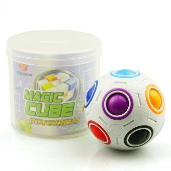 YongJun YJ Rainbow Ball Football Speed Magic Cube Puzzle Cubes KidsEducational Toys Rubix Cube - intl