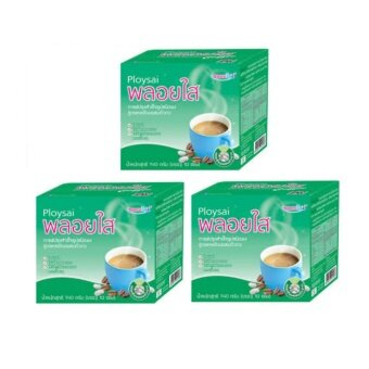 เปรียบเทียบราคา กาแฟยี่ห้อพลอยใส ส่วนผสมแคลเซียมและถั่วขาว 1 Packedบรรจุ 10ซอง Packed สีเขียว (แพ็ค3Packed)