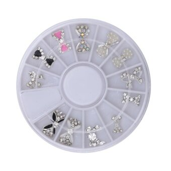 12Pcs Set Nail Art Decor Glitter Rhinestones Nail Tools ChristmasHalloween (Multicolor) - intl