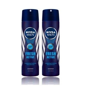 นีเวีย ดีโอ เมน เฟรช แอ็คทีฟ สเปรย์ (150 มล.) แพ็ค 2 NDM Freshspray 150 ml Pack 2