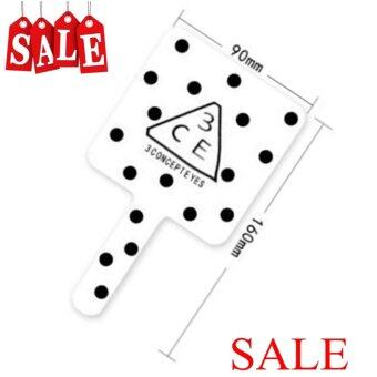 3CE Stylenanda Square Hand Mirror #White-Black กระจกขนาดพกพารุ่น3CEs004