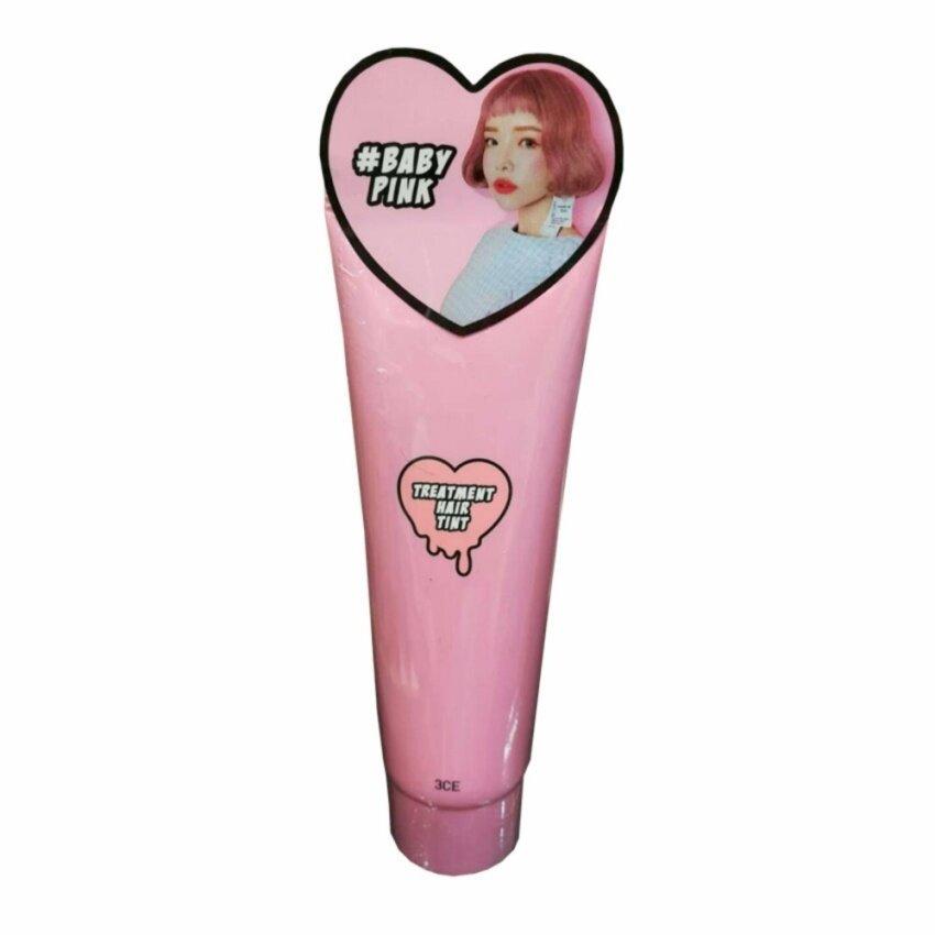 3CE TREATMENT HAIR TINT ทรีทเม้นท์เปลี่ยนสีผม #Baby Pink (1 หลอด)