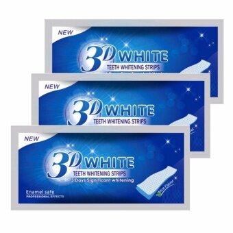3D White แผ่นแปะฟอกฟัน ฟันขาว แผ่นแปะฟันขาว แผ่นฟอกฟัน (3 ซอง)