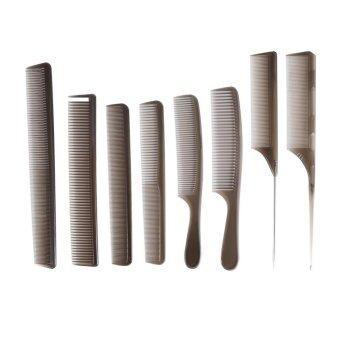 ซื้อ/ขาย 8PCS Salon Hair Combs Hairdressing Styling Cutting Barber Tools Set - intl
