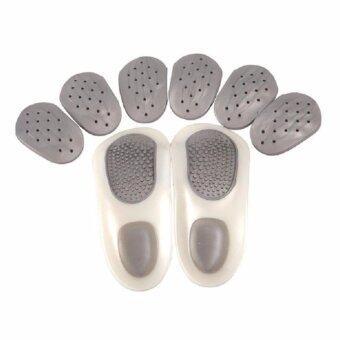 2560 a*bloom แผ่นรองเท้า รองรับสรีระเท้า แก้ปัญหา เท้าแบน Nano silver Orthotic Insoles Arch Support 1 คู่ Size E