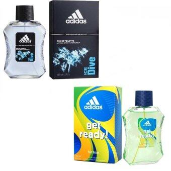 Adidas Ice Dive Adidas for men EDT 100 ml +Adidas Get Ready for Men EDT 100 ml.พร้อมกล่อง