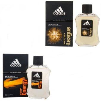 Adidas Victory League For men 100ml. + Adidas Deep Energy Adidas for men 100 mlพร้อมกล่อง