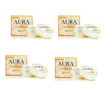 Aura ฟรุ๊ตตี้ ซันสกรีน ครีม กันแดด SPF50 ขนาด 5g 4กระปุก