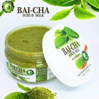 Bai-cha Scrub Milk by Dudeezone ใบชาสครับ แค่ขัดก็ขาวใส 1 กระปุก(370 g.)