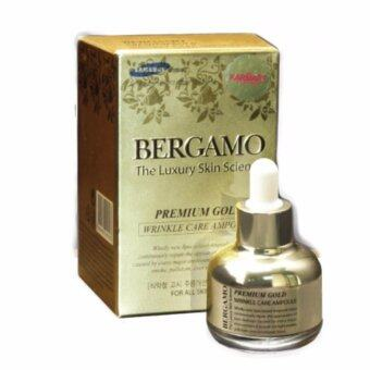 Bergamo The Luxury Skin Science Premium Gold Wrinkle Care Ampoule30ml .เซรั่มชนิดพิเศษ