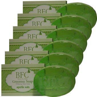 BFC Greentea Soap สบู่หน้าใส ลดสิว เพิ่มความชุ่มชื้น (6 ก้อน)