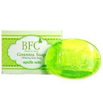 BFC Greentea Soapสบู่หน้าใส ลดสิว เพิ่มความชุ่มชื้น70g