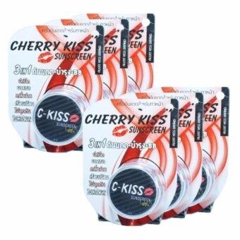 C-Kiss Sunscreen 3in1 Alert kiss โฉมใหม่ ตลับดำ ครีมกันแดดหน้าเนียน ซี-คิส SPF 60PA+++ 10g. ( 6 กระปุก )