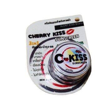 C-Kiss Sunscreen 3in1 SPF 60PA+++ (10g.) ครีมกันแดดหน้าเนียน ซี-คิส