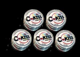C-Kiss Sunscreen 3in1 SPF 60PA+++ (10g.) ครีมกันแดดหน้าเนียน ซี-คิส 5 กล่อง