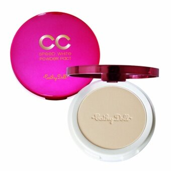 CC Powder Pact SPF40 PA+++ 12g Cathy Doll Speed WhiteKarmart CathyDoll Speed White CC Powder Pact SPF40 PA+++ 12g ตบเด้ง เร่งขาวคุมมัน กันแดด#21 (ผิวขาว)
