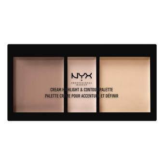 นิกซ์ โปรเฟสชั่นแนล เมคอัพ ครีม ไฮไลท์ แอนด์ คอนทัวร์ พาเลท - CHCP01 ไลท์ ไฮไลท์ แอน คอนทัวร์ NYX Professional Makeup Cream Highlight & Contour Palette - CHCP01 Light Highlight & Contour