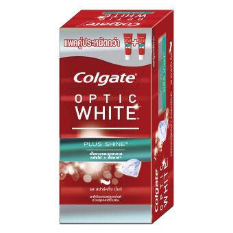 COLGATE ยาสีฟัน อ๊อฟติค ไวท์ พลัส ชายน์ 100 กรัม - แพ็คคู่