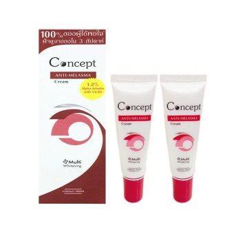 Concept Anti-Melasma Cream คอนเซ็ปท์ สูตรลดเลือนฝ้า 12 กรัม 2กล่อง