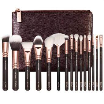 Harga ชุดแปรงกระเป๋าน้ำตาล Cosmetic Brushes Foundation Brush Eye shadowbrushes, Deluxe Package Send cosmetic (bag Brown) น้ำตาล