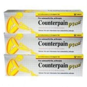 Counterpain Plus เคาน์เตอร์เพน พลัส แก้อาการปวด อักเสบข้อ 25 กรัม 3หลอด