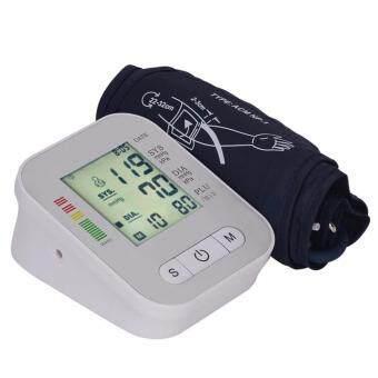 CR-SEVEN Arm Blood Pressure Monitor LCD Heart Beat Home Sphgmomanometer White